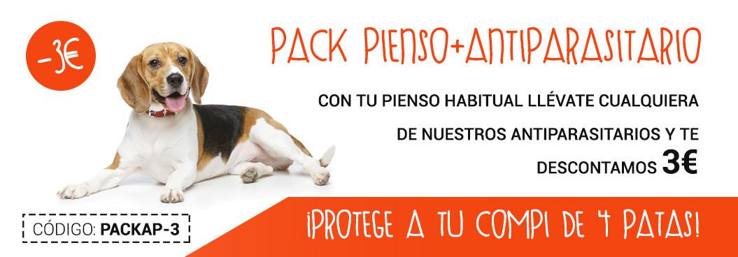 Pack antiparasitario + pienso con descuento